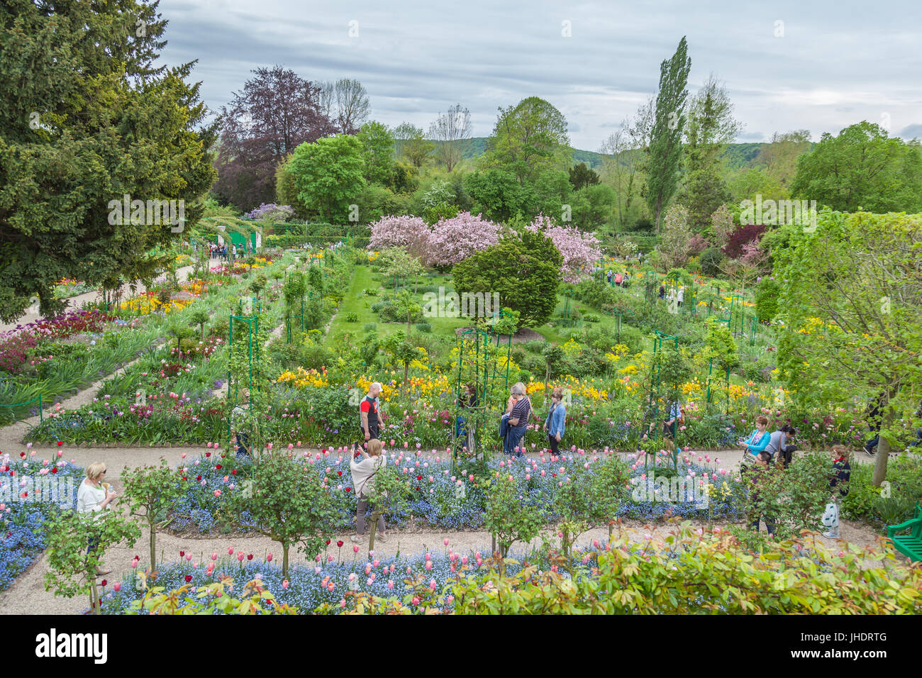 Stock Photo   Tourists Visit In Claude Monetu0027s Gardens In Village Giverny,  Located 80 Km (50 Mi) From Paris, France Claude Monetu0027s Gardens In Village  ...