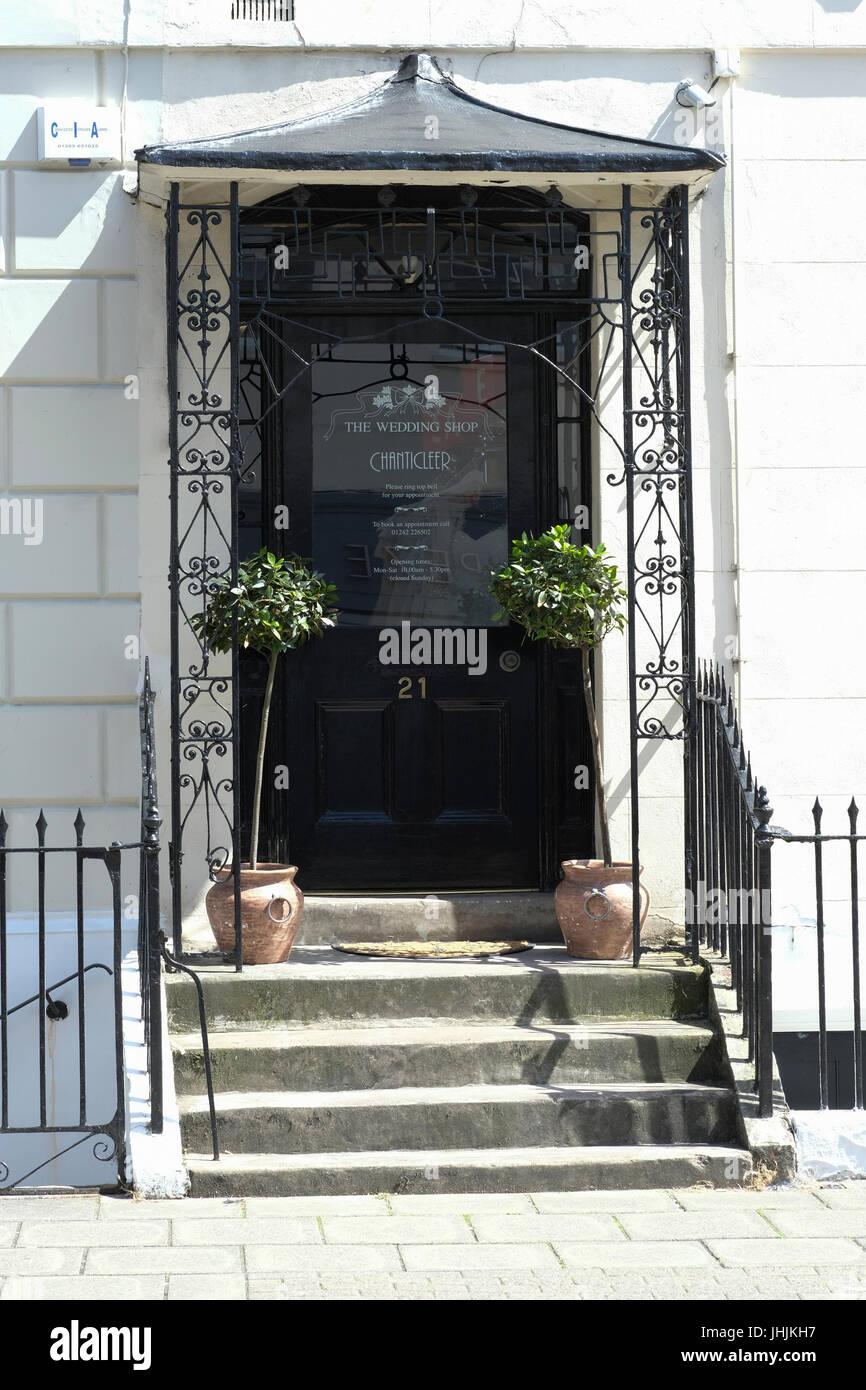 Doorway of wedding dress shop in Cheltenham Stock Photo, Royalty ...