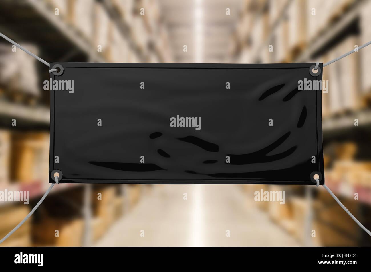 Black Blank Vinyl Banner Hanging Stock Photo Royalty Free Image - Blank vinyl banners
