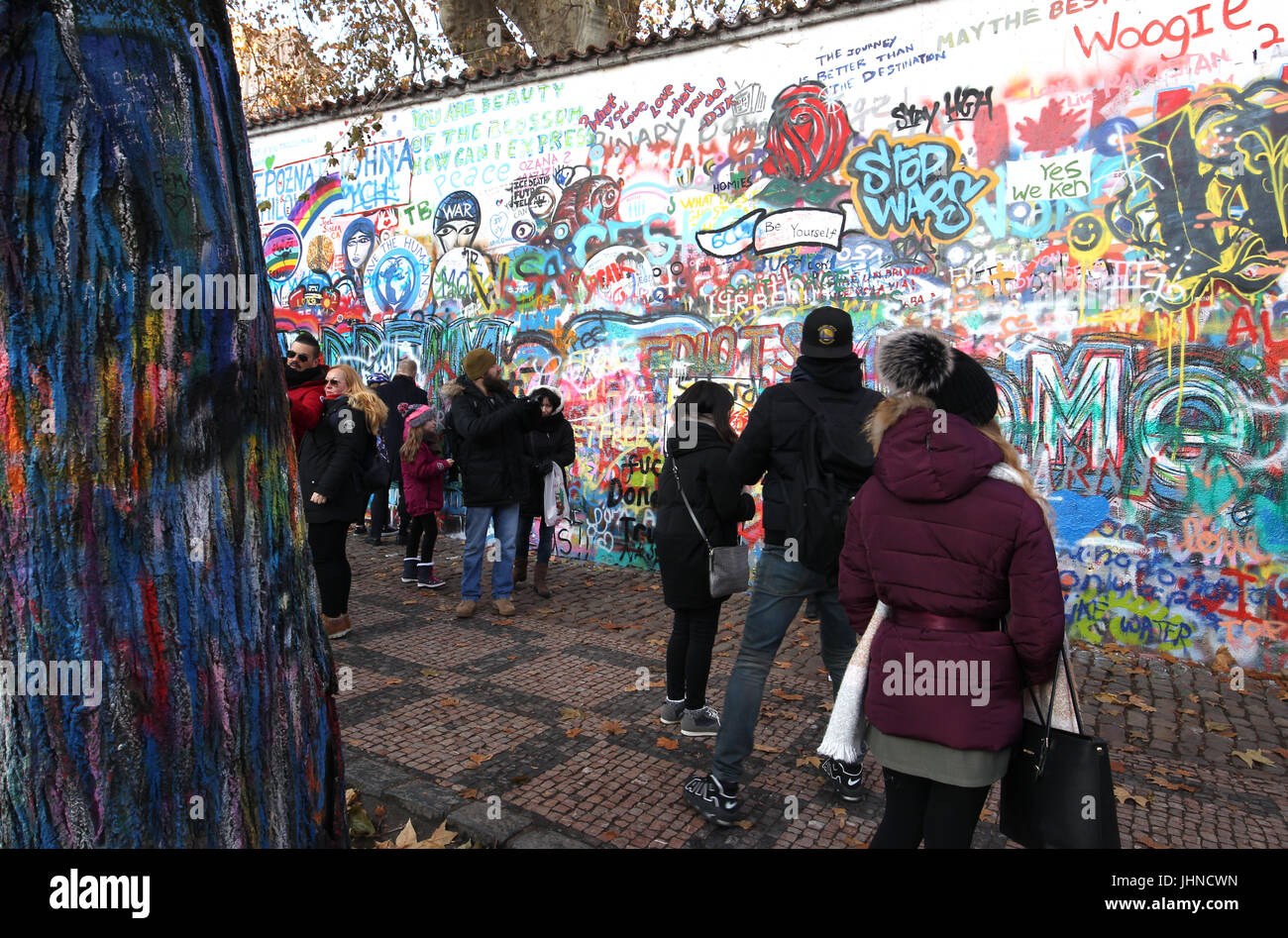 The john lennon wall is graffiti filled wall in prague the czech the john lennon wall is graffiti filled wall in prague the czech republic the wall represents a symbol of global ideals such as love and peace buycottarizona
