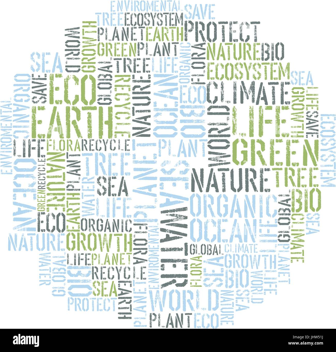 Poster design word - Ecology Earth Concept Word Collage Environmental Poster Design Tempolate Vector Illustration Eps8