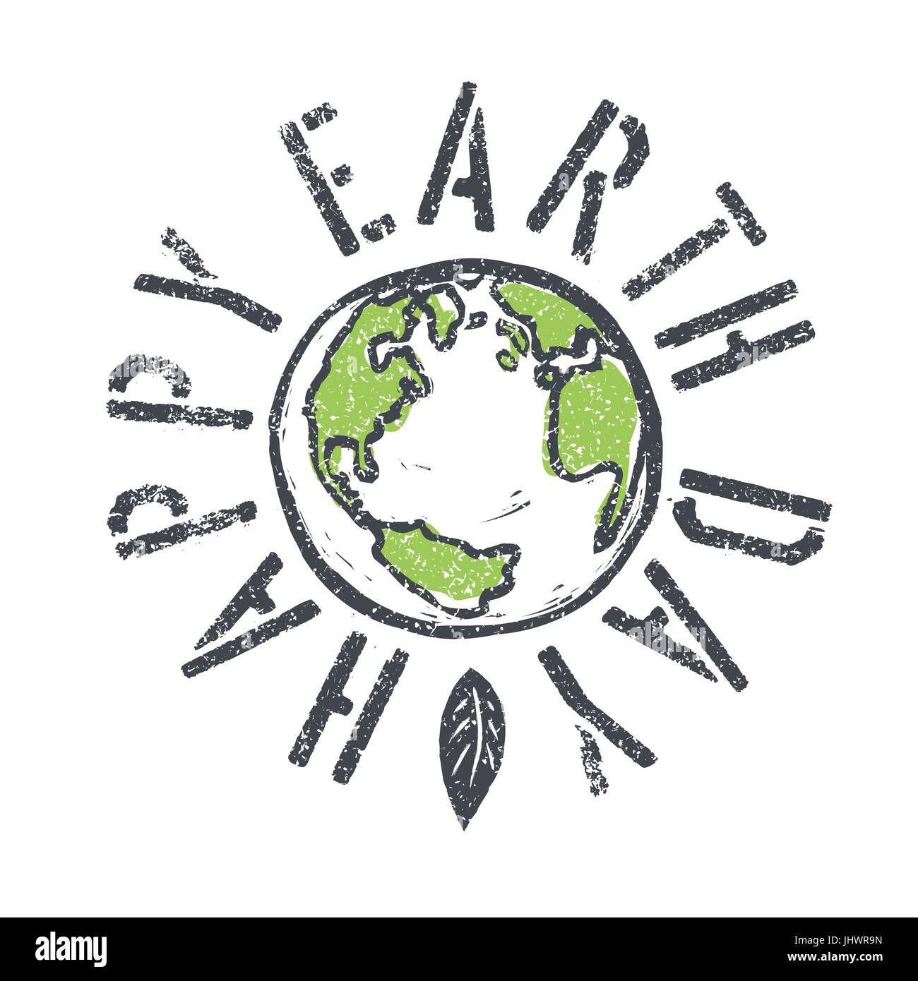 Happy earth day grunge lettering with earth symbol stock vector happy earth day grunge lettering with earth symbol buycottarizona