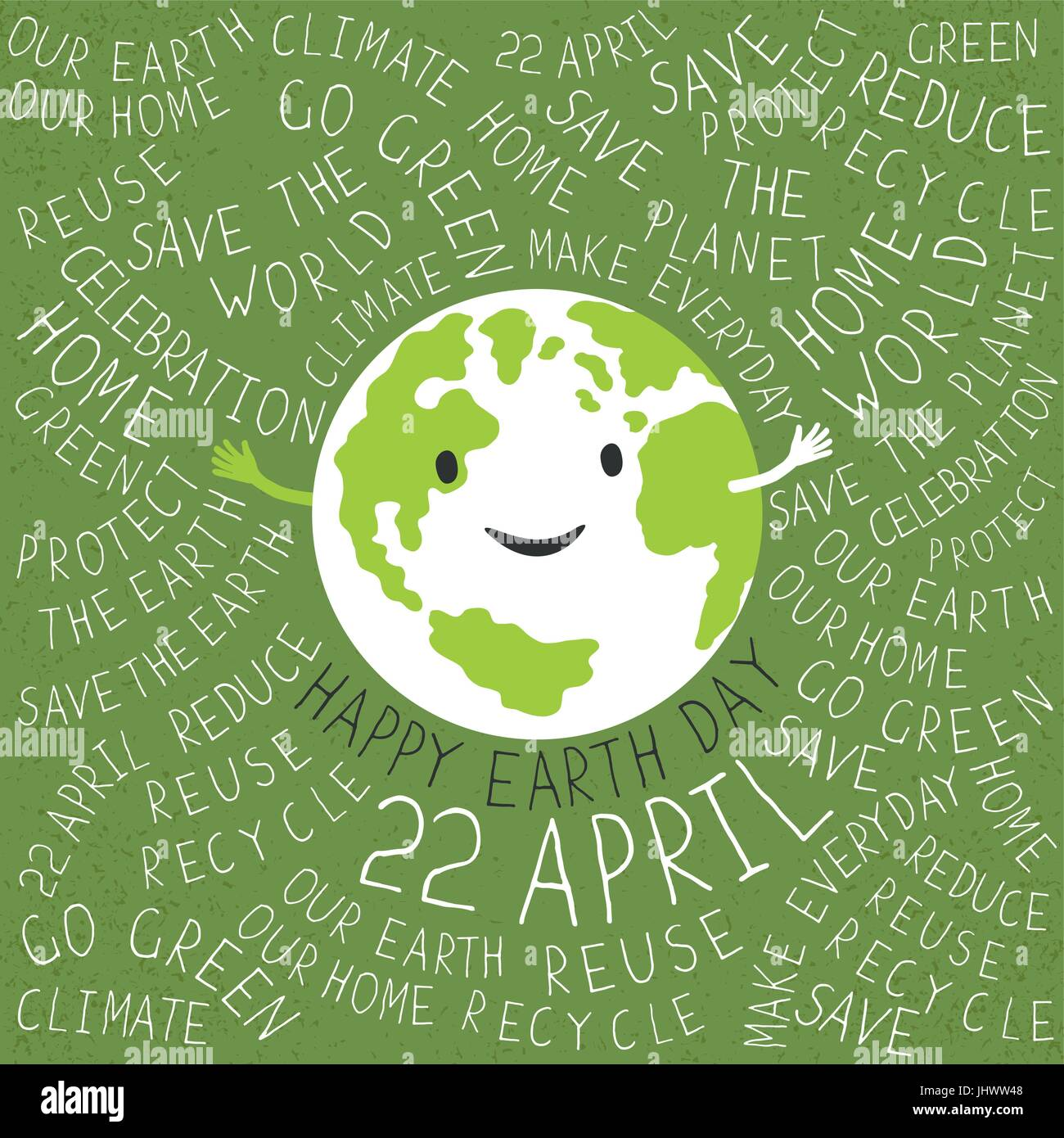Happy earth day poster text around the earth symbol planet happy earth day poster text around the earth symbol planet smiling buycottarizona