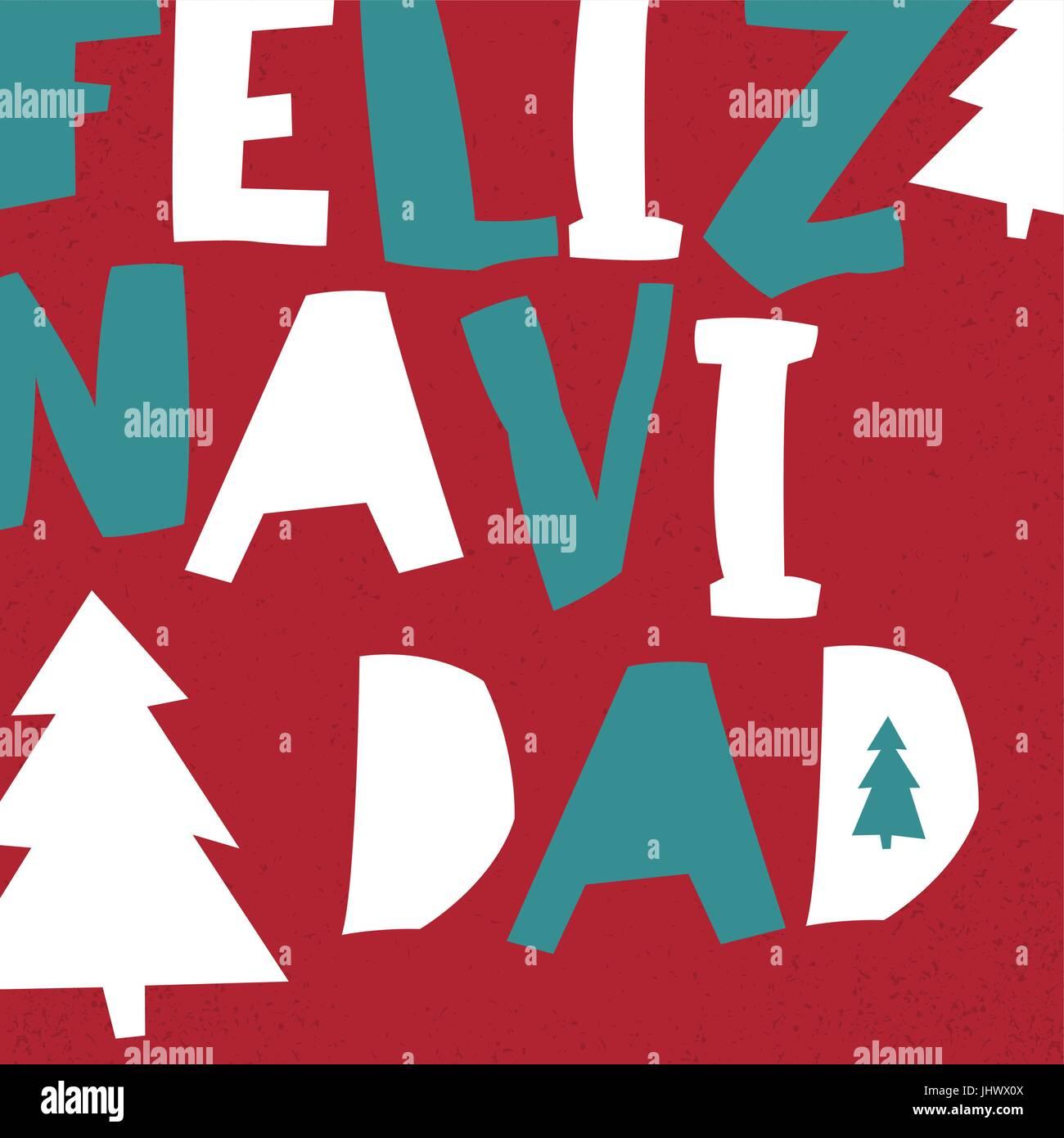 Feliz navidad vector merry christmas card template in spanish vector merry christmas card template in spanish language kristyandbryce Images