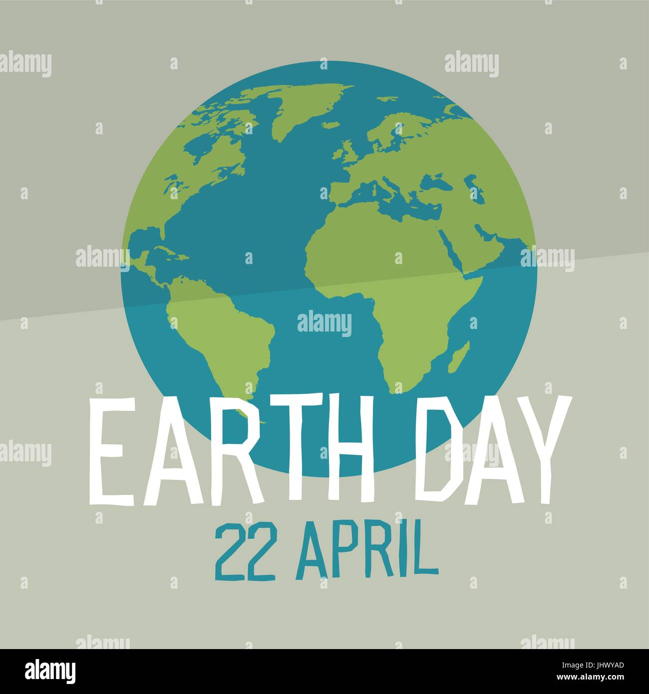 Earth day poster design in flat style similar world map earth day poster design in flat style similar world map background vector illustration save the planet concept gumiabroncs Choice Image
