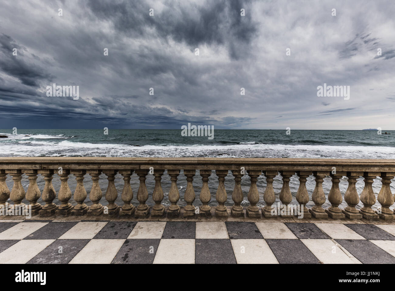 Terrazza Mascagni in Livorno, Tuscany, Italy Stock Photo, Royalty ...