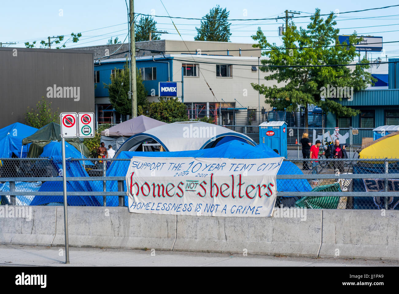Sugar Mountain Tent City Homeless C& DTES Vancouver British Columbia Canada & Sugar Mountain Tent City Homeless Camp DTES Vancouver British ...