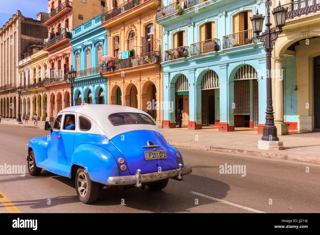 Historic buildings, colourful architecture and classic cars on ...