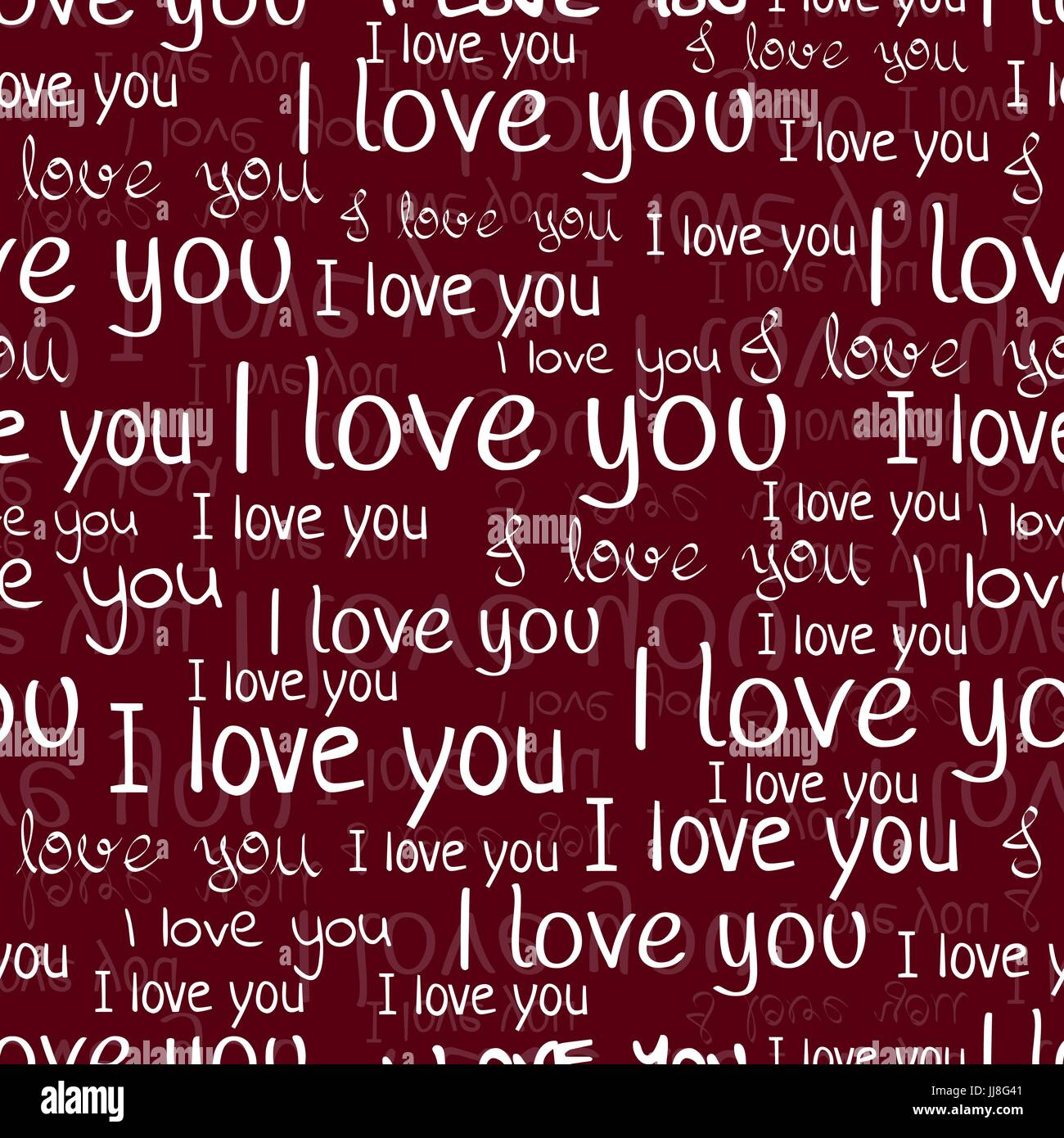 i love you font seamless pattern valentines day background white letters and phrases - Valentines Letters