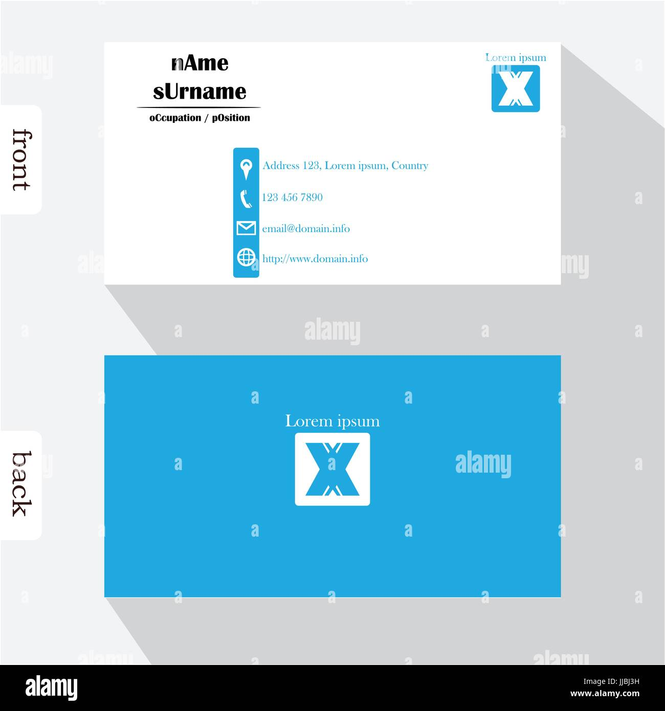 Vector Design Modern Creative Business Card Template Show Front - Front and back business card template