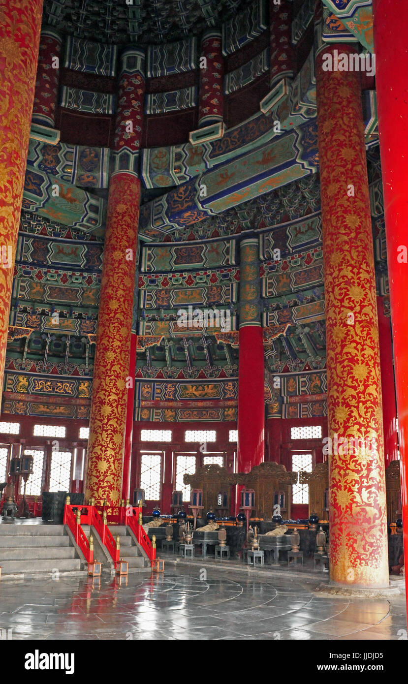 View of the interior of the temple of heaven in beijing it is stock view of the interior of the temple of heaven in beijing it is thought of as a symbol of the city taken 19042017 buycottarizona Gallery