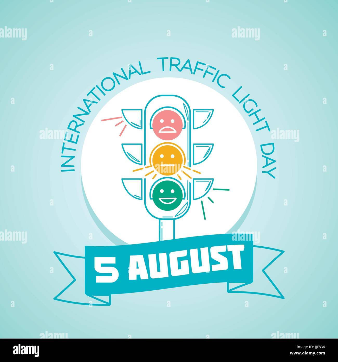 Calendar for each day on august 5 greeting card holiday stock calendar for each day on august 5 greeting card holiday international traffic light day icon in the linear style kristyandbryce Images