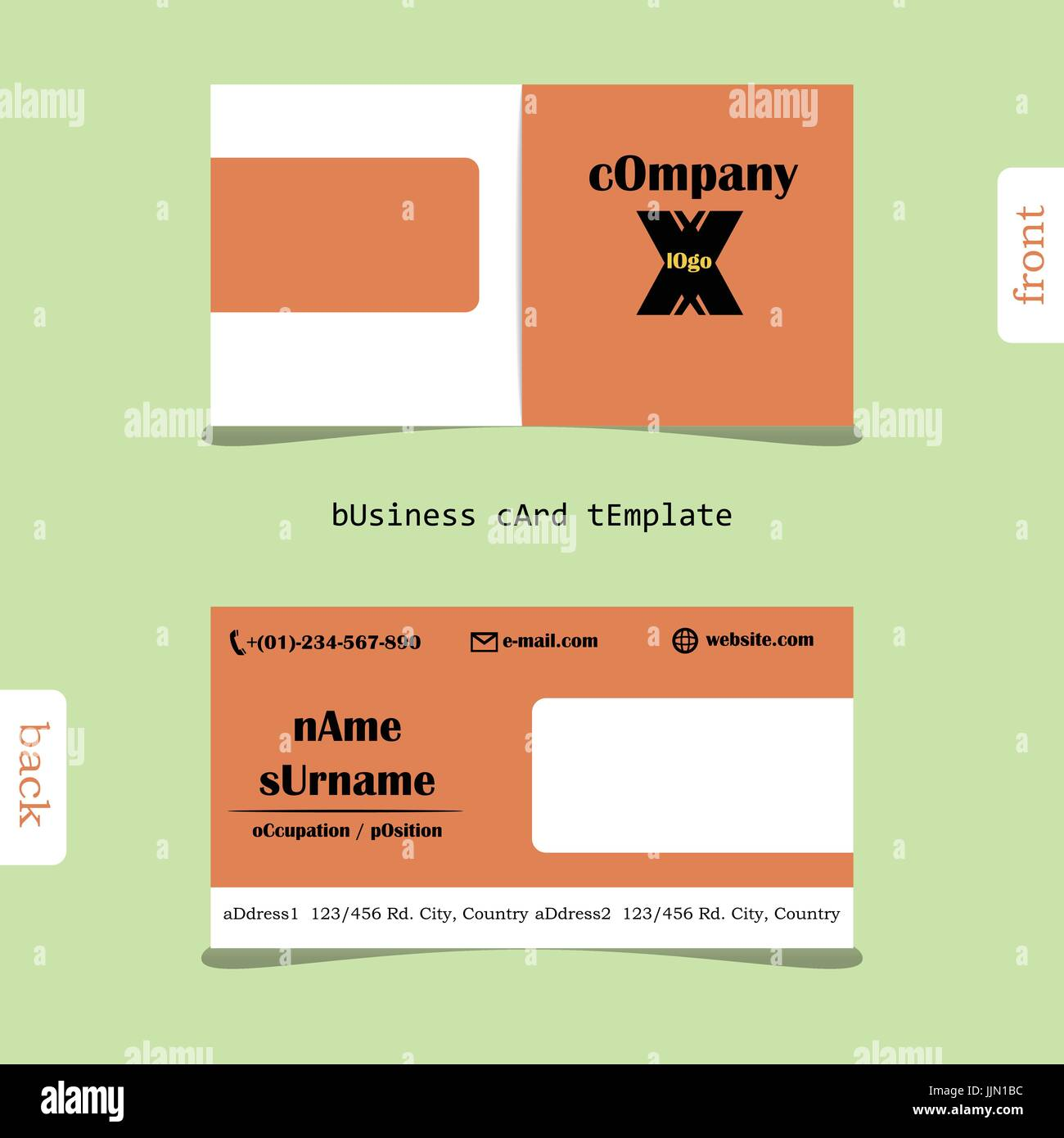 Design Simple Creative And Clean Business Card Template Show - Front and back business card template