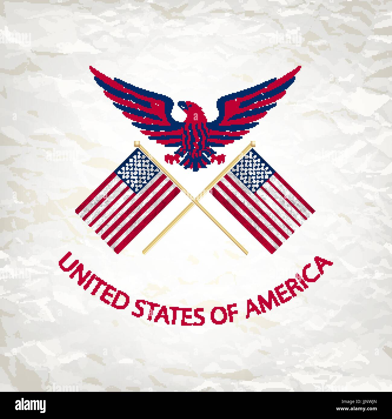 View american bald eagle bird stock vector images alamy easy to edit vector illustration of eagle with american flag for independence day art stock biocorpaavc Images