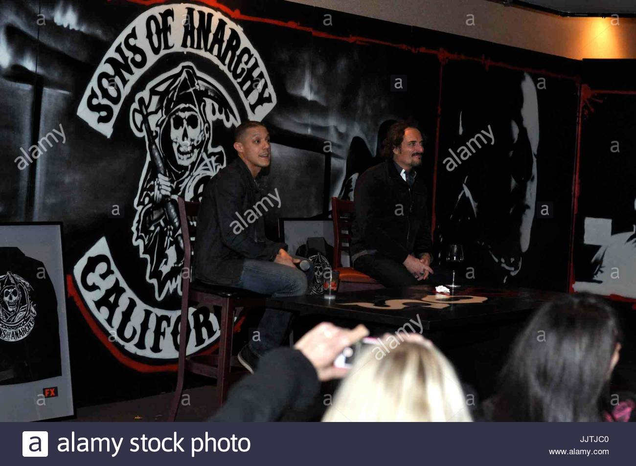 Theo rossi kim coates theo rossi and kim coates from the sons of theo rossi and kim coates from the sons of anarchy had a special vip showing of this seasons finale of the show kristyandbryce Choice Image
