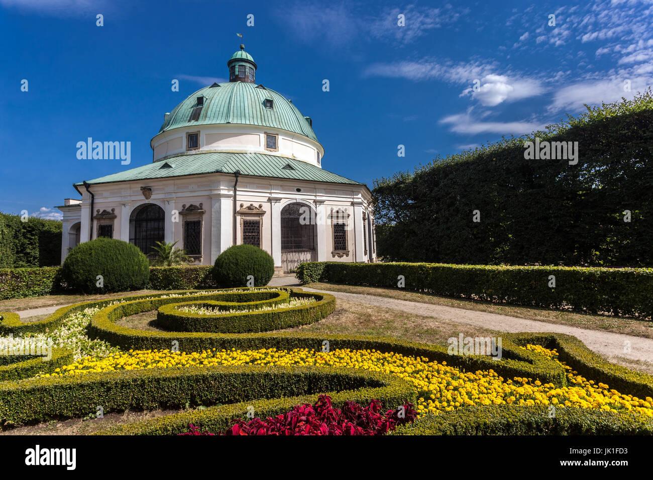 Baroque Rotunda in Pleasure Garden Kromeriz UNESCO City Moravia