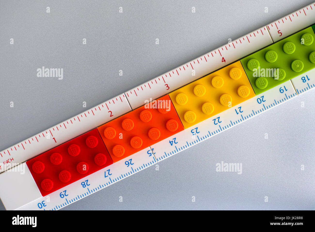 Tambov russian federation may 20 2017 lego ruler with inches and tambov russian federation may 20 2017 lego ruler with inches and centimeters made buycottarizona Image collections