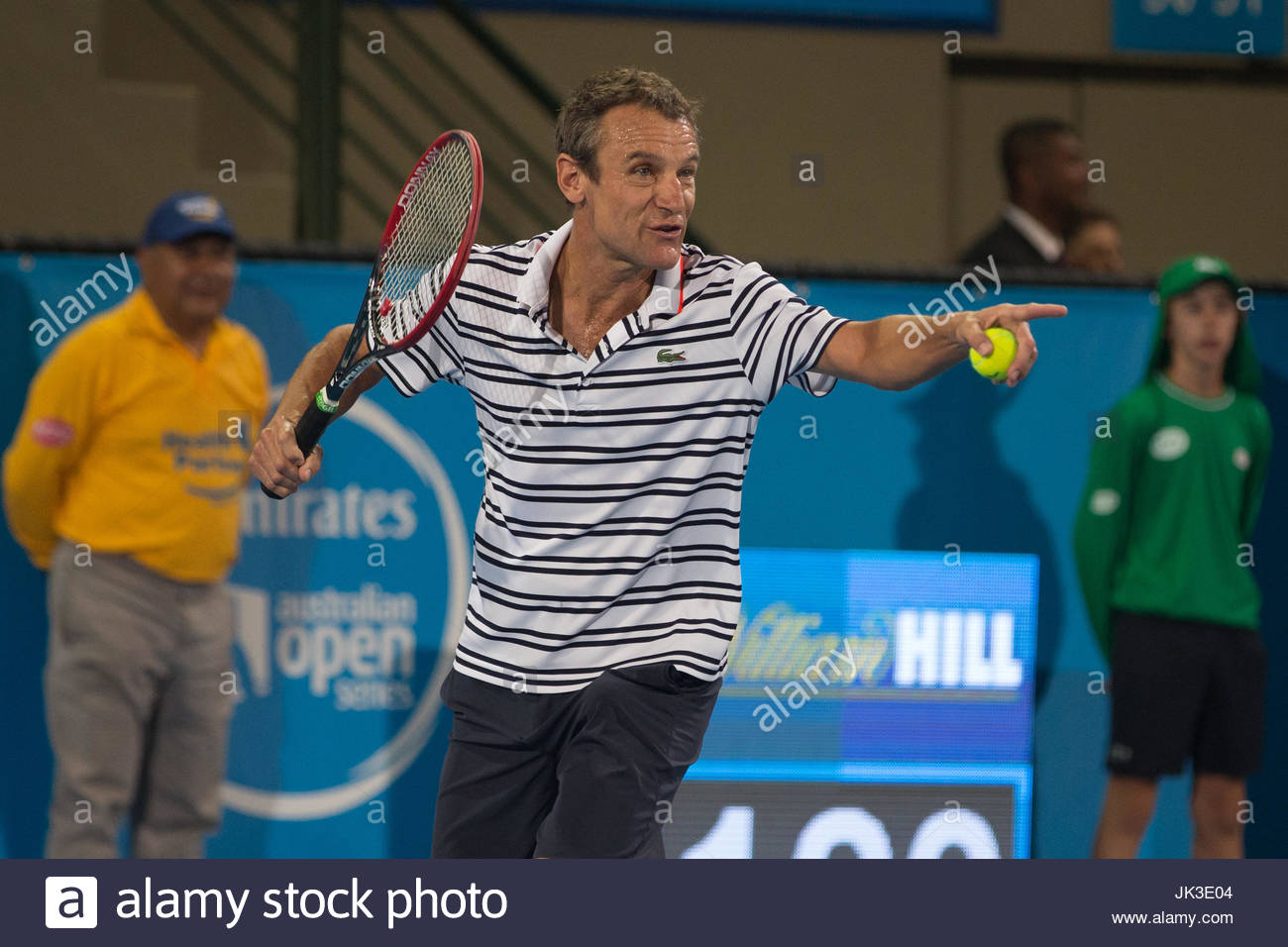 Mats Wilander Mark Philippoussis took to the centre court after a