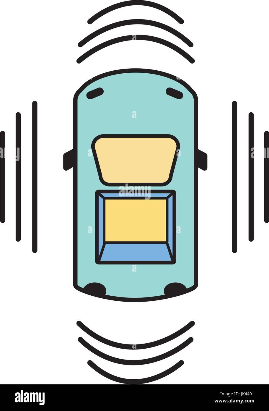 car transportation from above with sunroof stock vector art rh alamy com Ice Cream Sandwich Clip Art Remote Start Clip Art