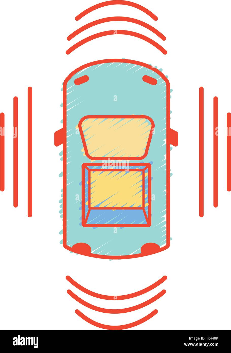 car transportation from above with sunroof stock vector art rh alamy com Hot Rod Flames Clip Art Transmission Clip Art