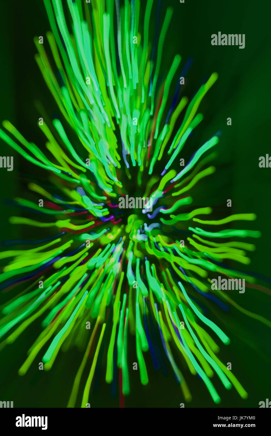 explosion of lights, taken by zooming in on a Christmas Tree, then ...