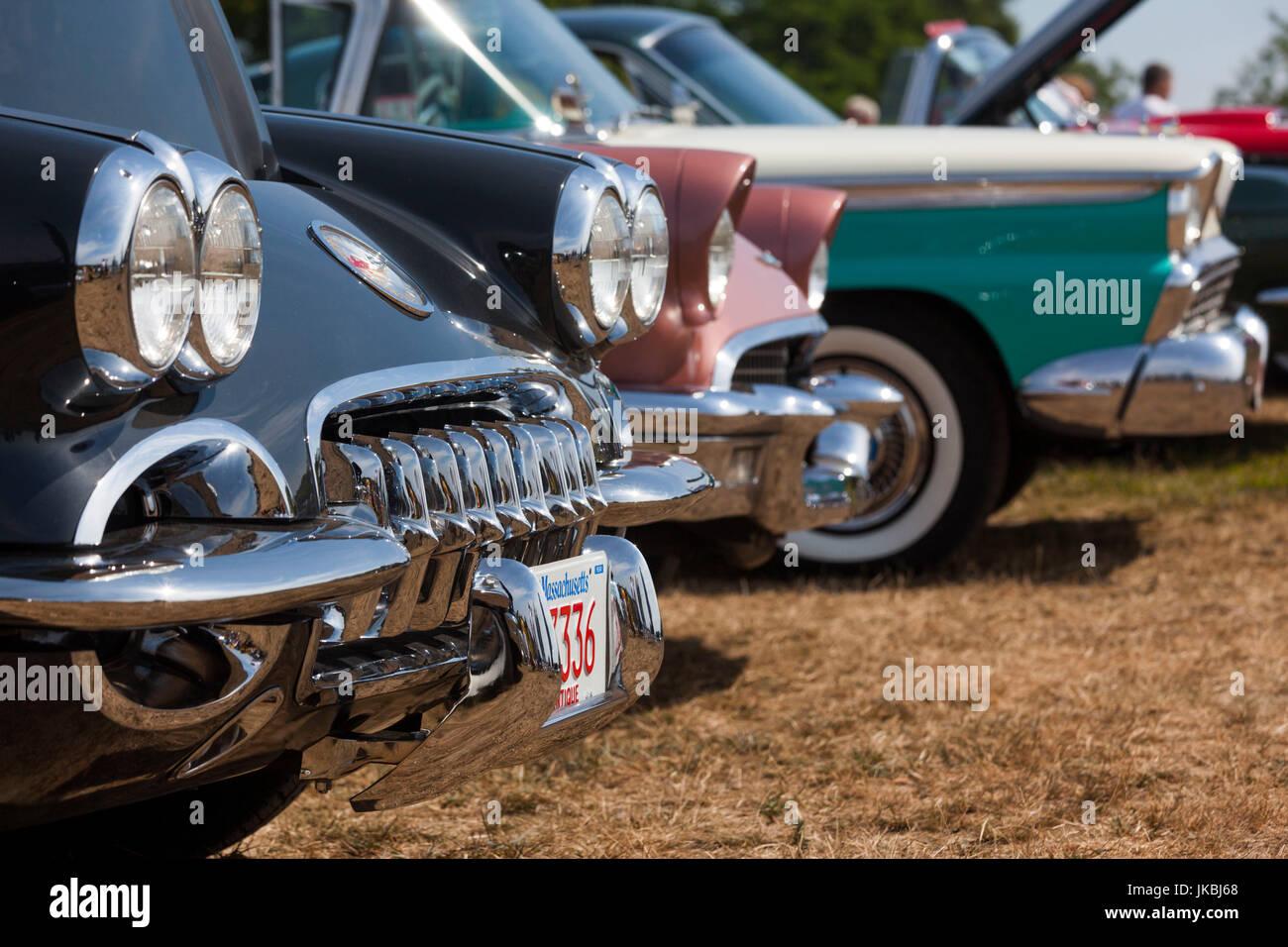 USA, Massachusetts, Gloucester, Antique Car Show, 1960 Corvette ...