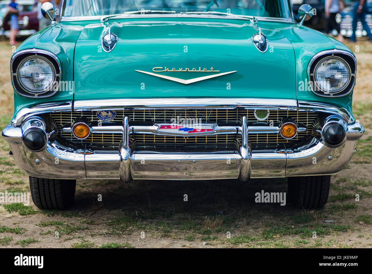 USA, Massachusetts, Cape Ann, Gloucester, Antique Car Show, 1957 ...