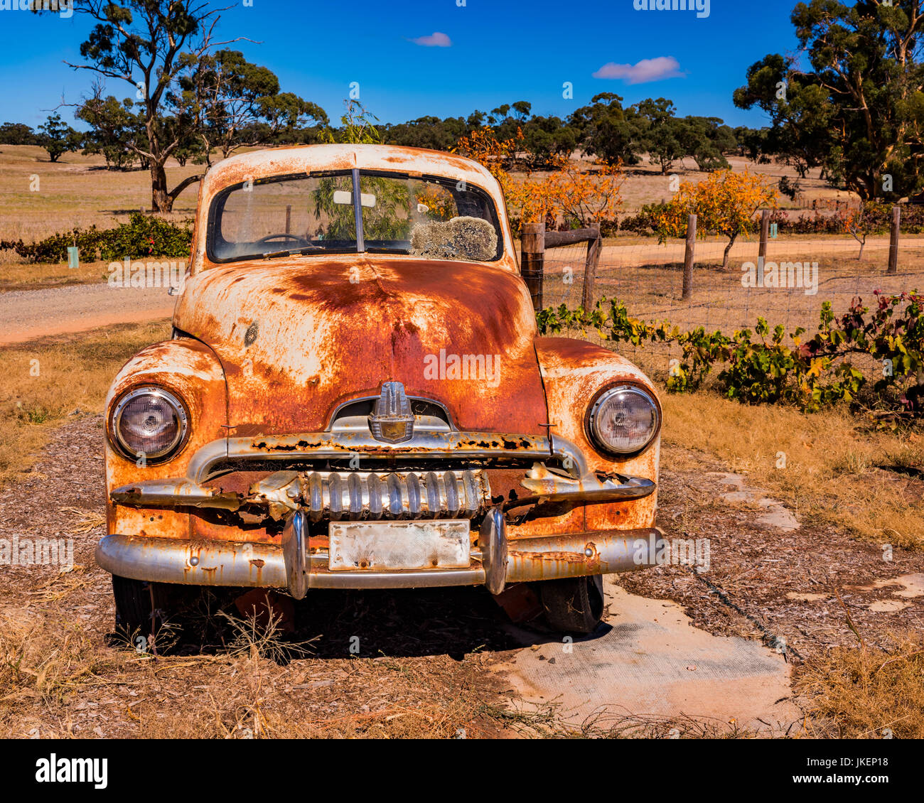 Old abandoned car rusting away in South Australia Stock Photo ...
