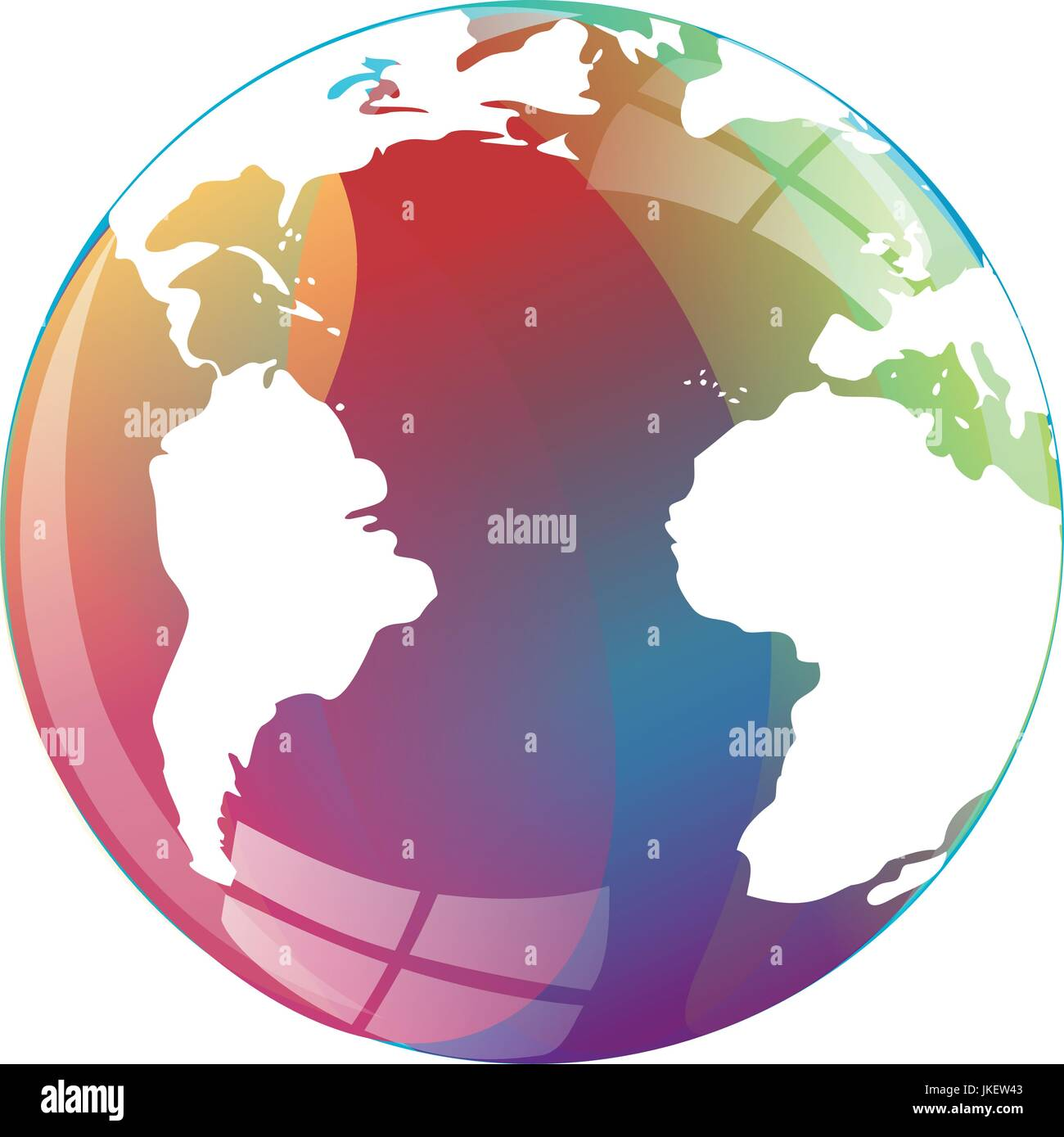 Colorful earth globe icon map world stock vector art illustration colorful earth globe icon map world gumiabroncs Gallery