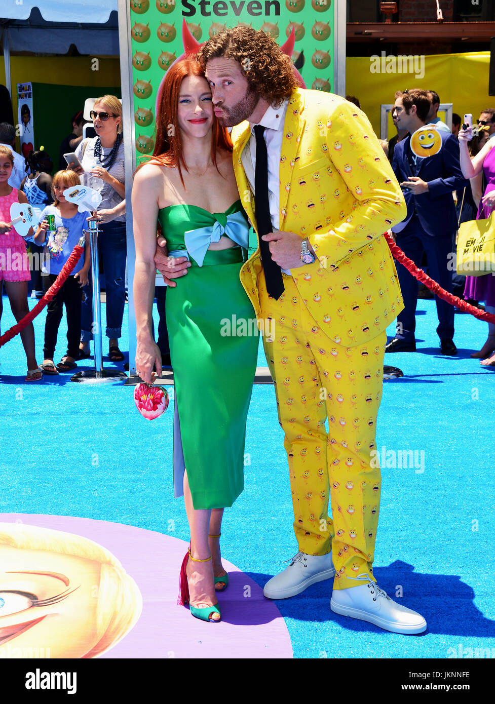 Los Angeles, USA. 23rd July, 2017. T.J. Miller , wife Kate ...