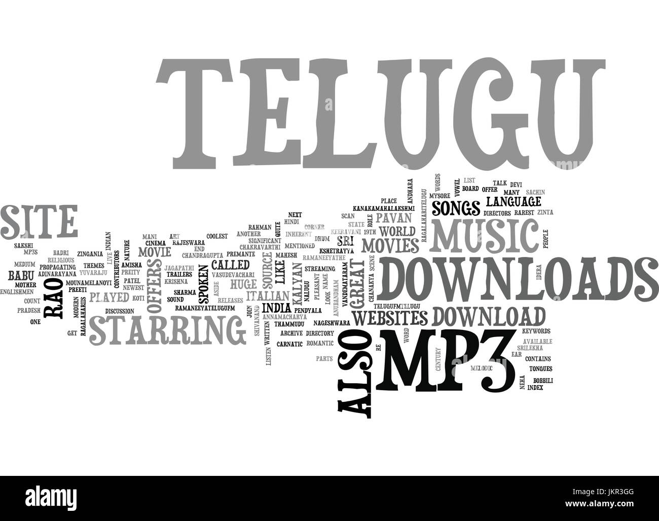 Stock Vector Telugu Mp Download Text Background Word Cloud Concept