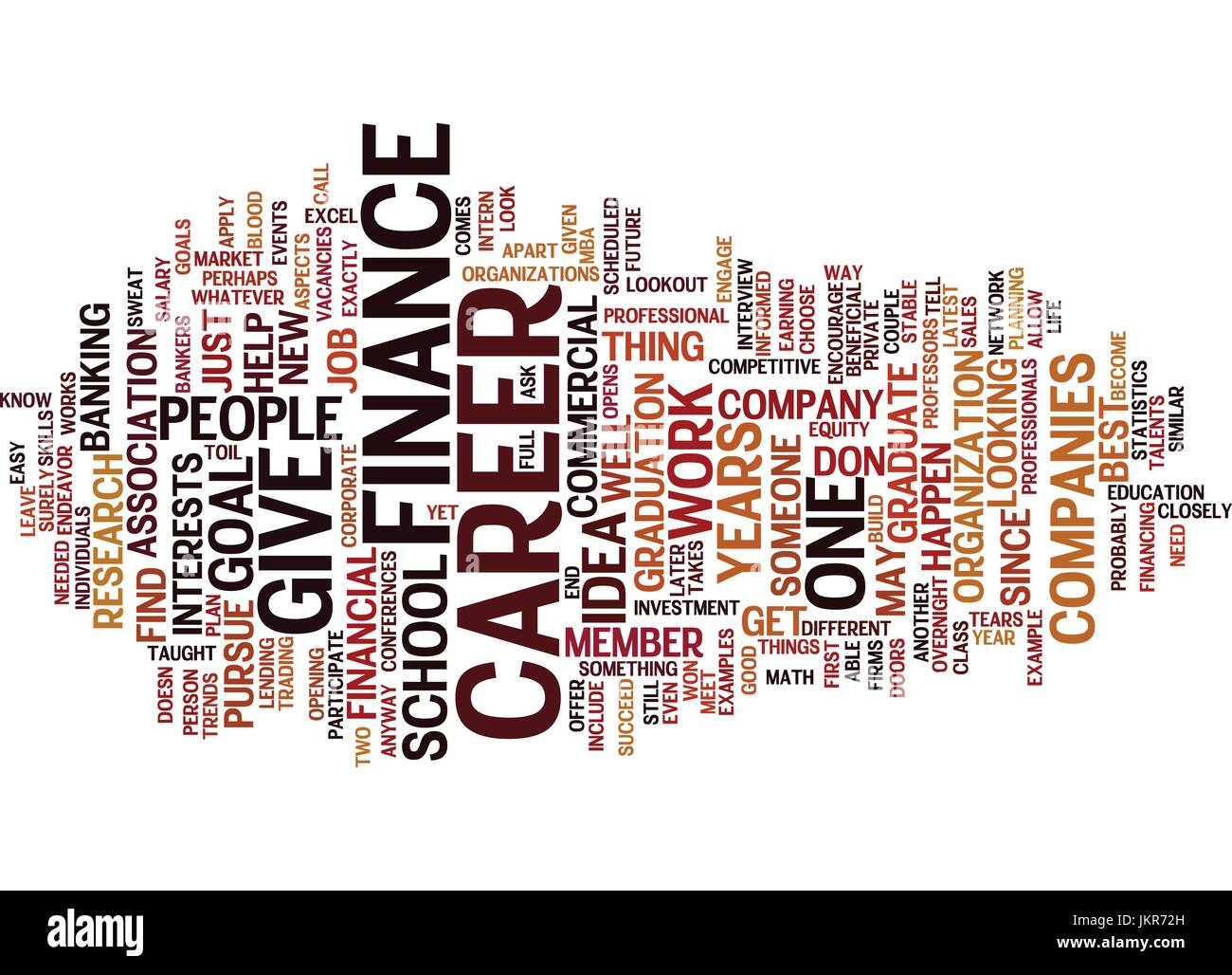 The Career Goal In Finance Text Background Word Cloud Concept