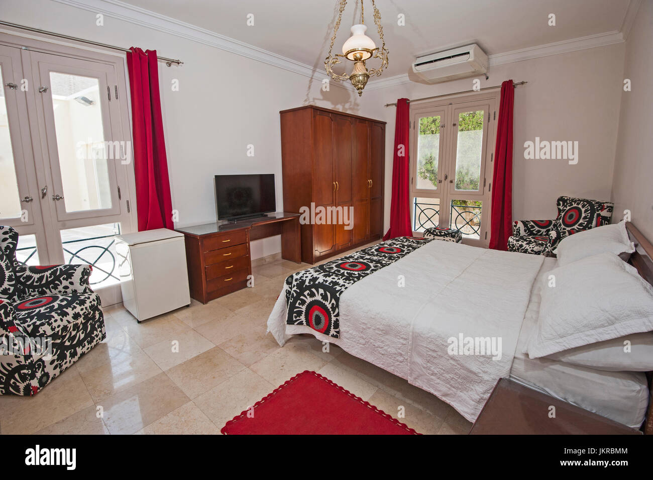 Interior Design Decor Furnishing Of Luxury Show Home Double Bedroom With Furniture