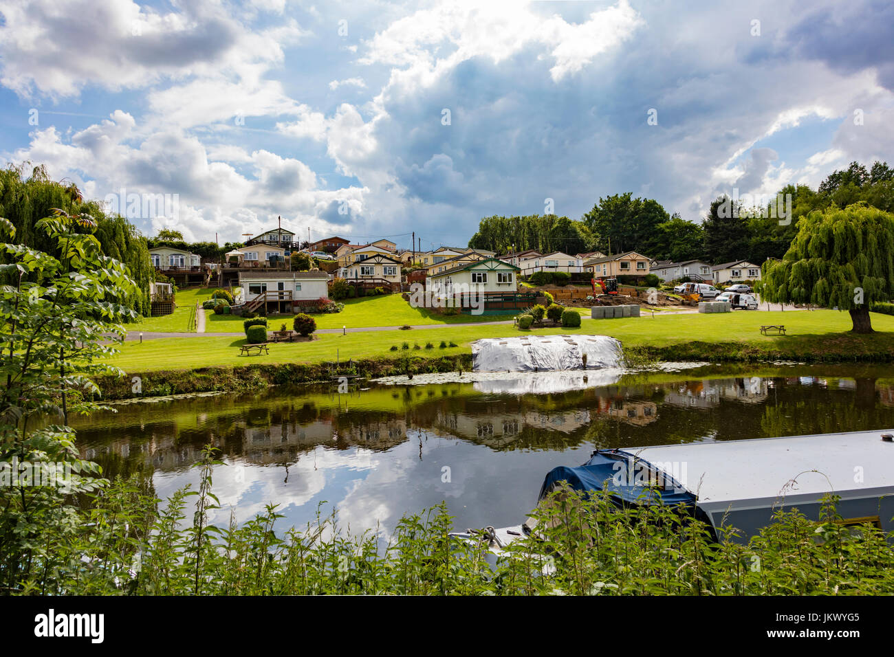 Kent Farm Caravans A Static And Mobile Home Park On The River Medway At East Farleigh Near Maidstone UK