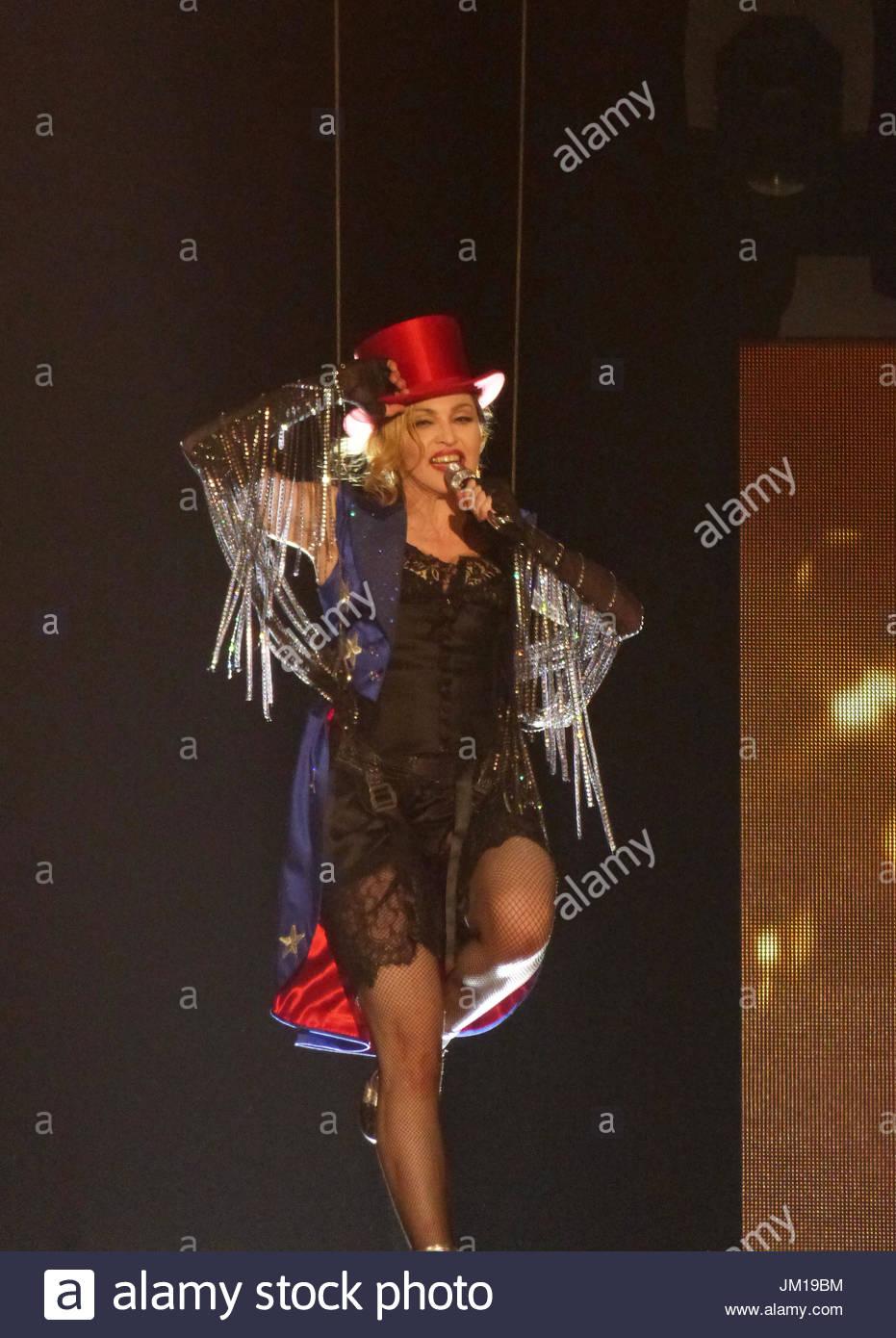 Madonna fashion show san luis obispo - Madonna Rebel Heart Tour In Washington D C Stock Image