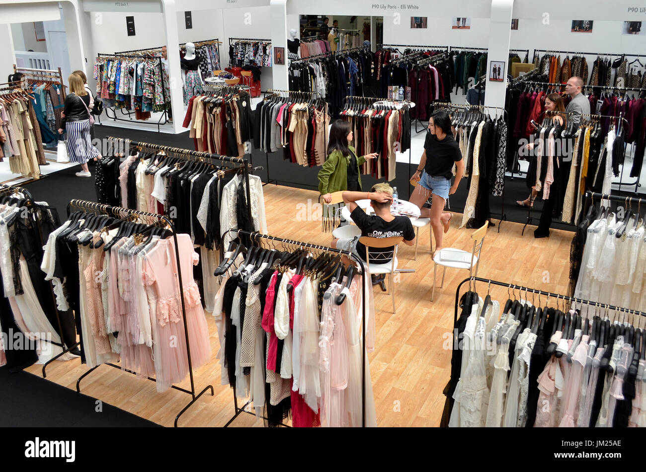 Fashion expo standsay : Clothing stands at pure london olympia uk
