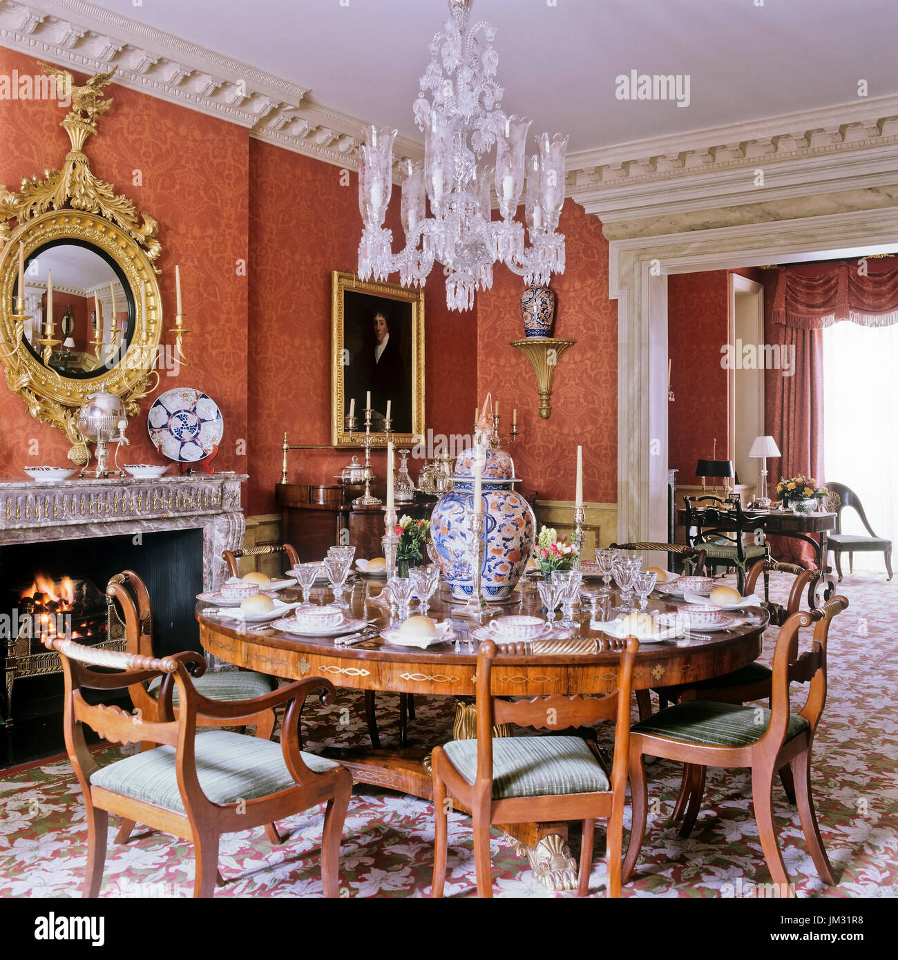 Victorian Dining Room Stock Photos & Victorian Dining Room