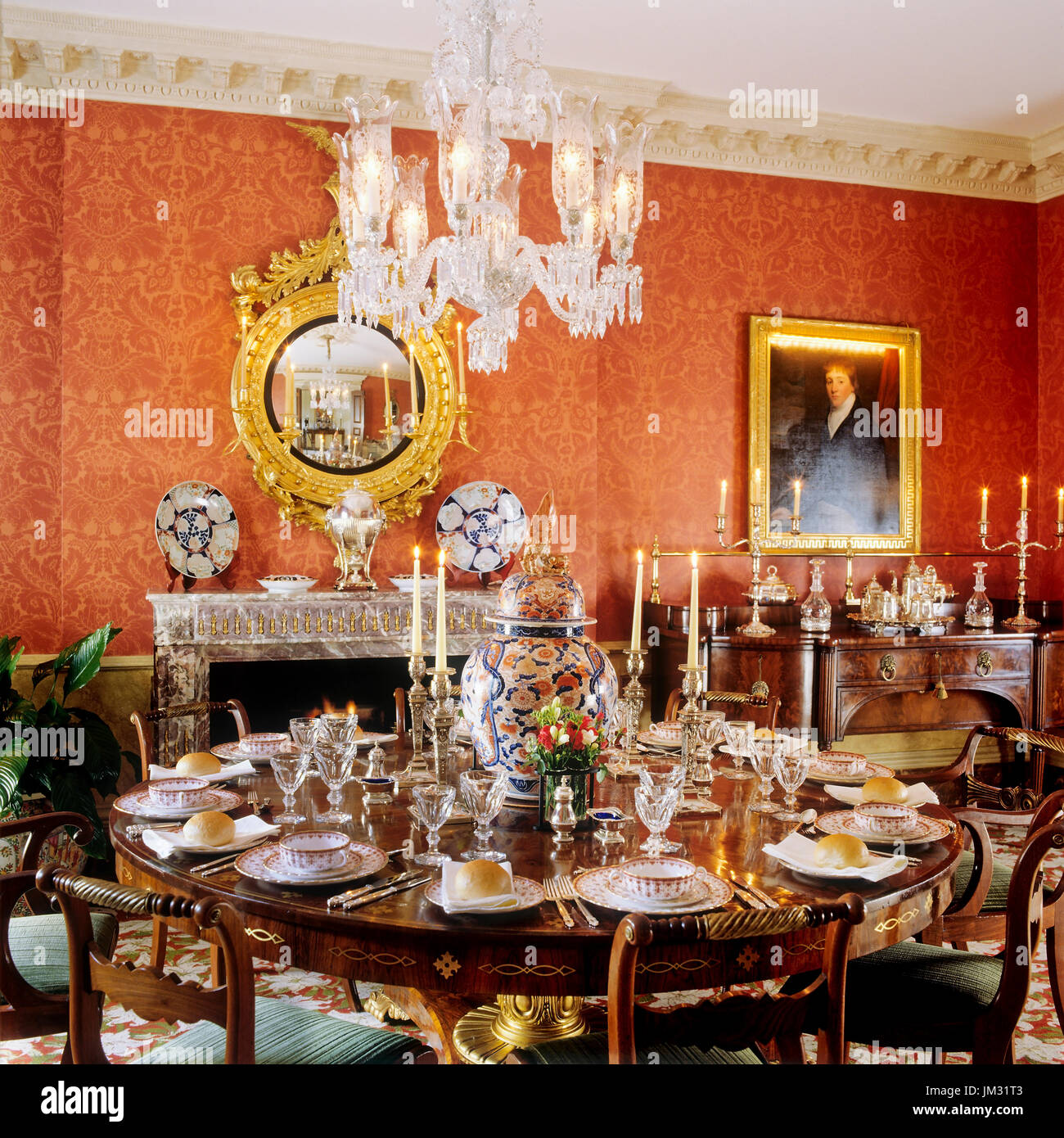 Large Victorian Dining Room: Victorian Dining Room Stock Photos & Victorian Dining Room