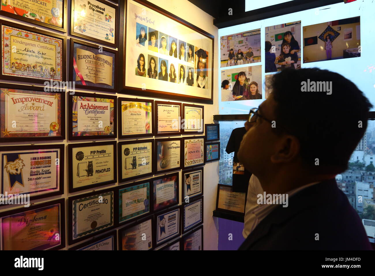 office space memorabilia. Visitors Look At The Memorabilia Of Abinta Kabir On Display In A Corner Office Space Foundation. Was Killed During Terro E
