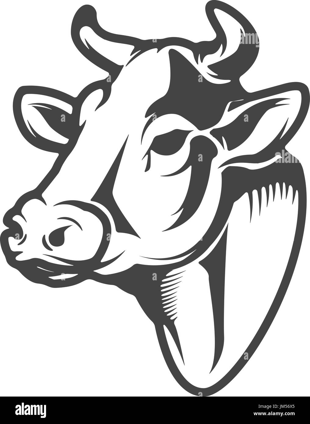 cow head icon isolated on white background design