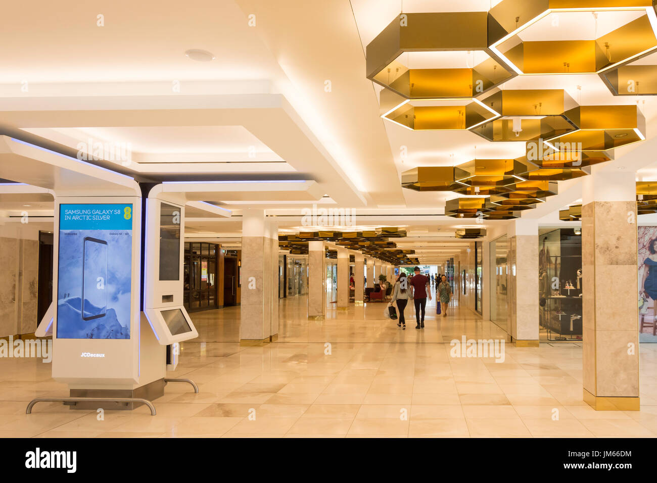 Interior Of Central Milton Keynes Shopping Centre The Mk Buckinghamshire England United Kingdom