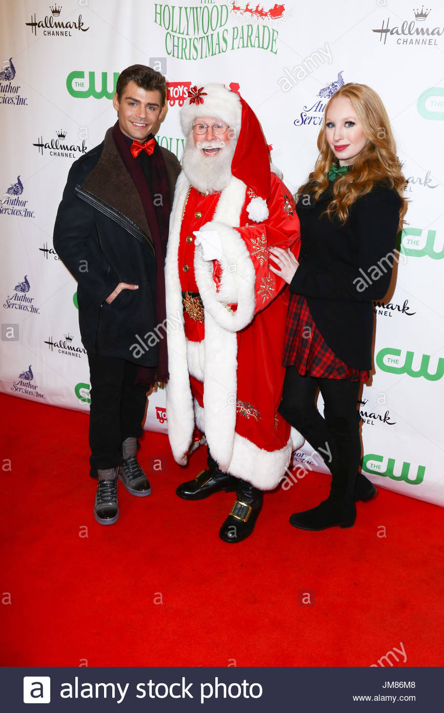 elizabeth stanton garrett clayton celebrities arrive for the red carpet for the 84th annual hollywood christmas parade in hollywood ca - Clayton Christmas Parade