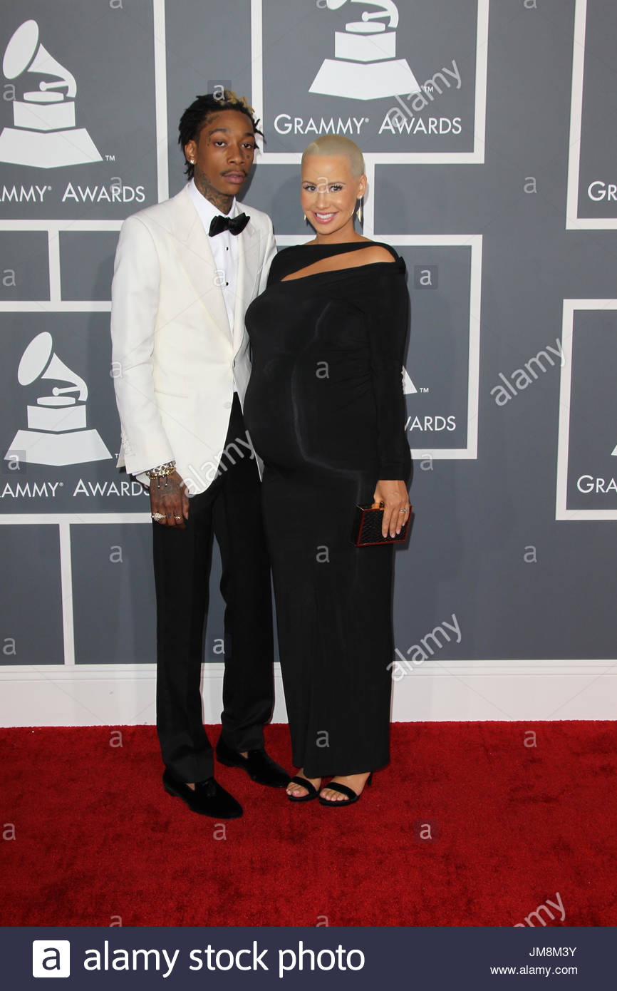 Pictures of wiz khalifa pictures of celebrities - Wiz Khalifa_amber Rose Celebrities Arrive At The 55th Annual Grammy Awards At Staples Center On
