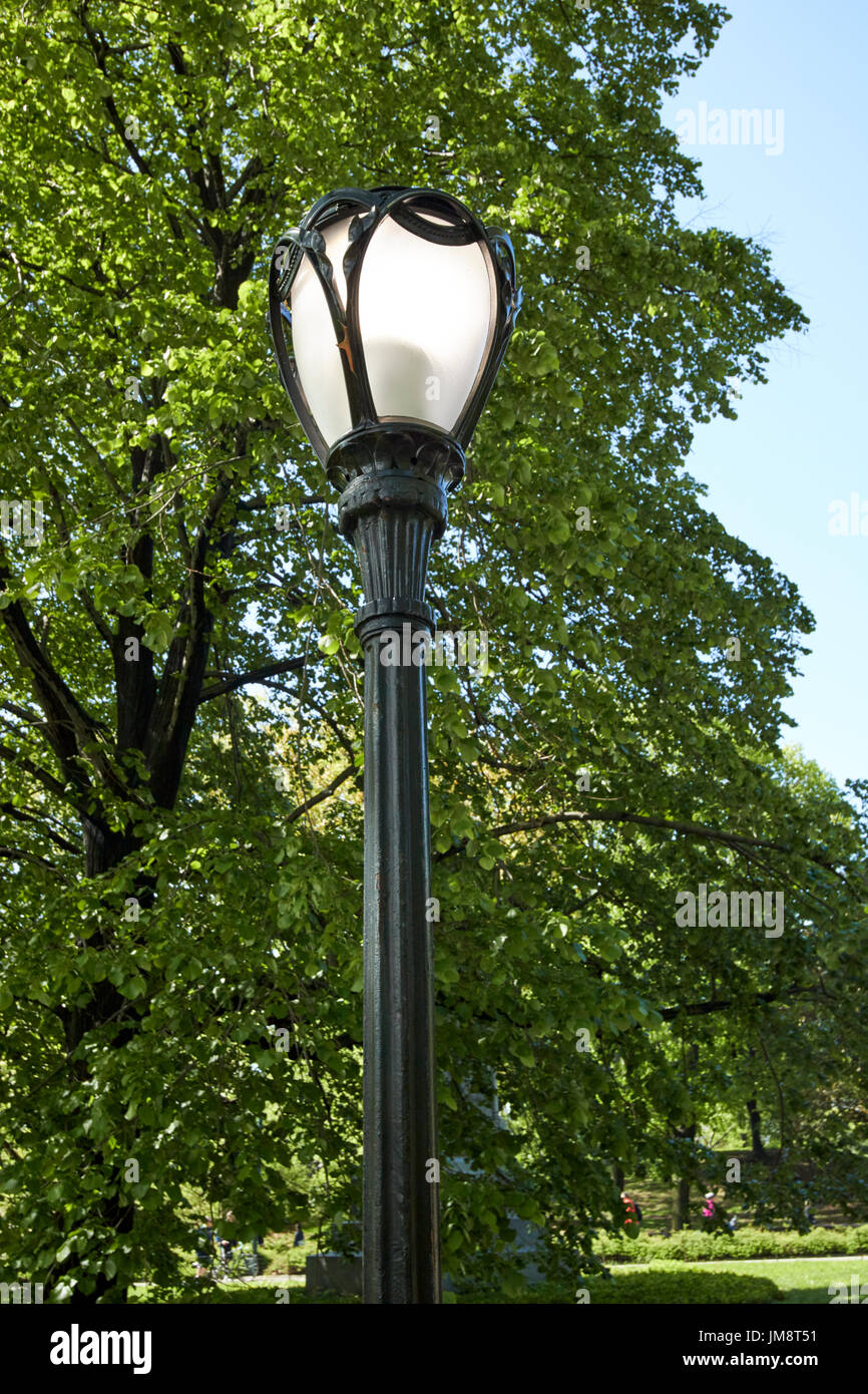 central park lamp post New York City USA Stock Photo, Royalty Free ...