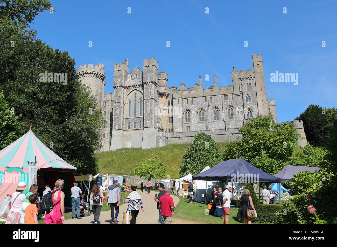 Visitors Saw A Great Spectacle When Actors In Medieval Armour Fought On Foot And Horse At Arundel Castle