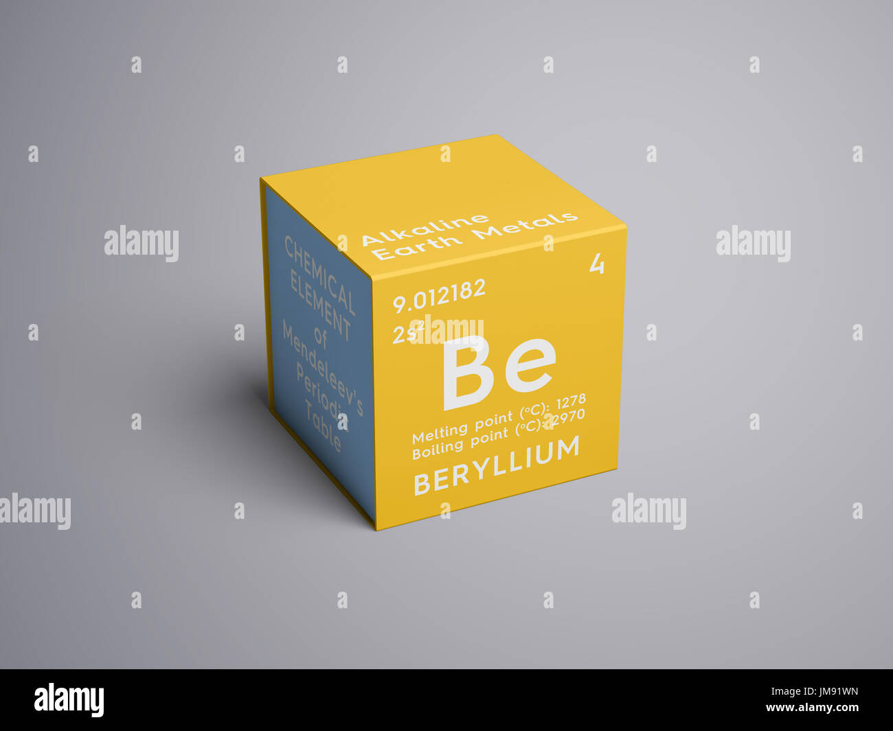 Beryllium alkaline earth metals chemical element of mendeleevs beryllium alkaline earth metals chemical element of mendeleevs periodic table beryllium in square cube creative concept biocorpaavc Images