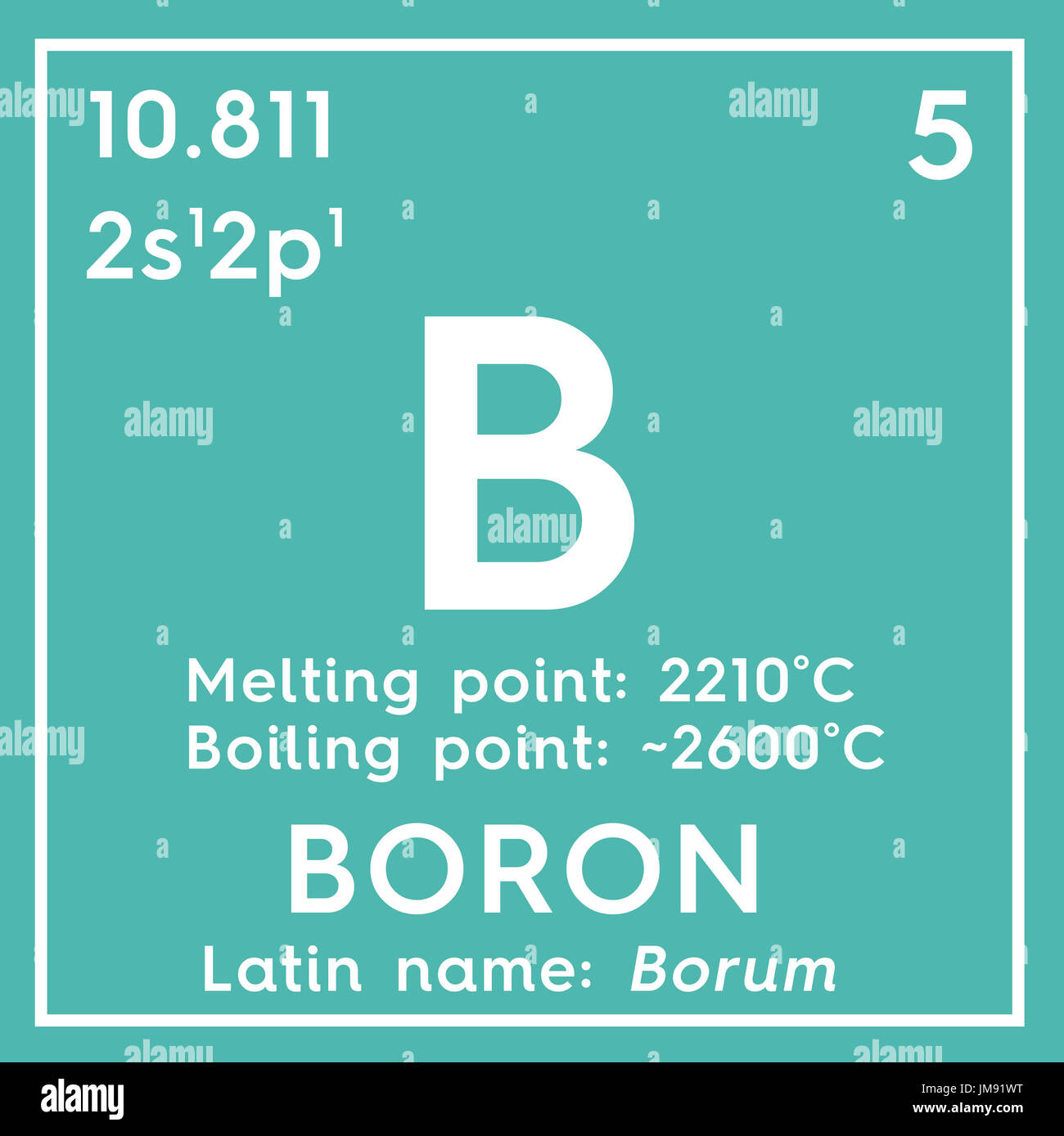 Boron b chemical element periodic table 3d render stock photo chemical element of mendeleevs periodic table boron in square cube creative gamestrikefo Choice Image