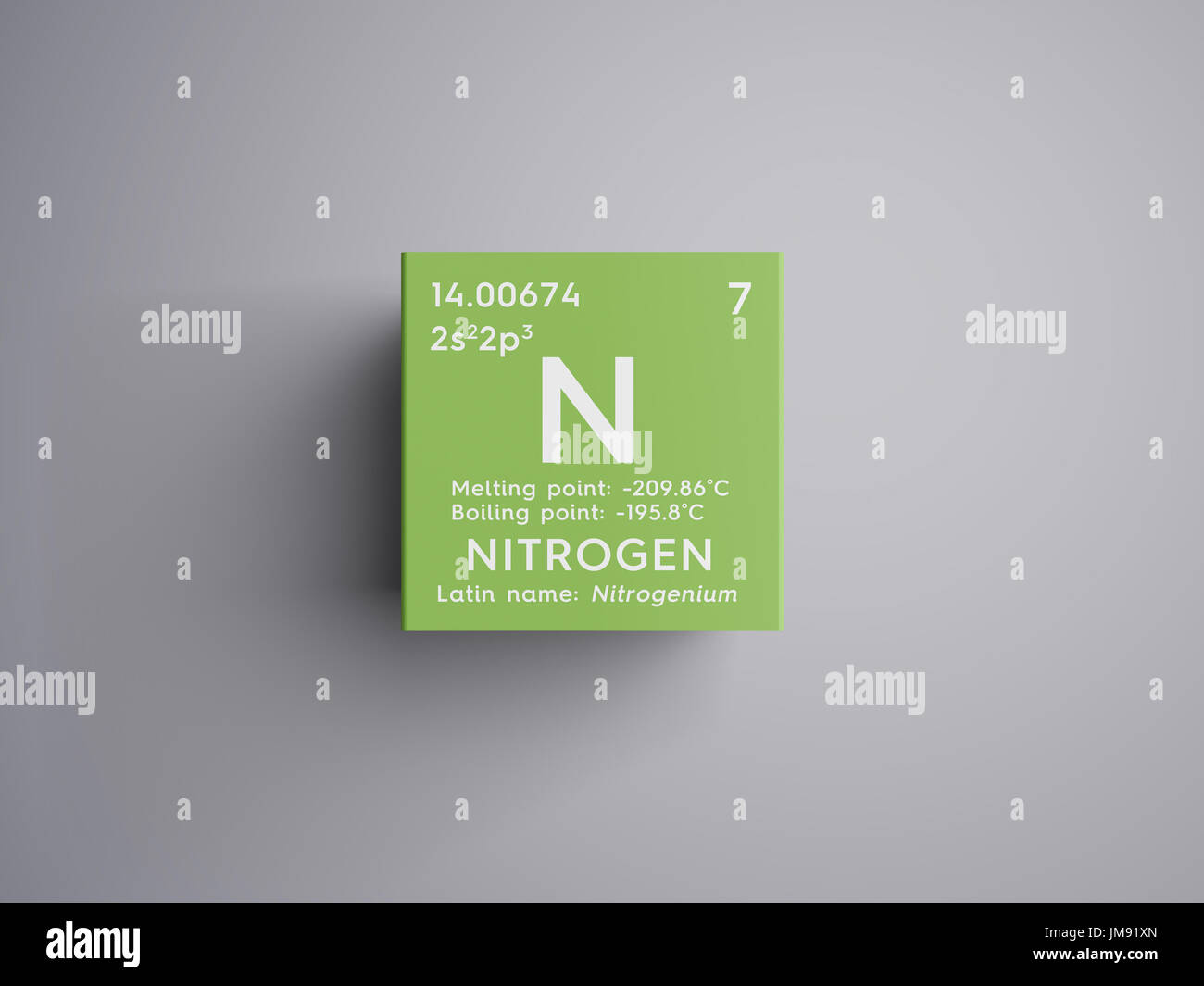 Nitrogen other nonmetals chemical element of mendeleevs periodic nitrogen other nonmetals chemical element of mendeleevs periodic table nitrogen in square cube creative concept urtaz Images