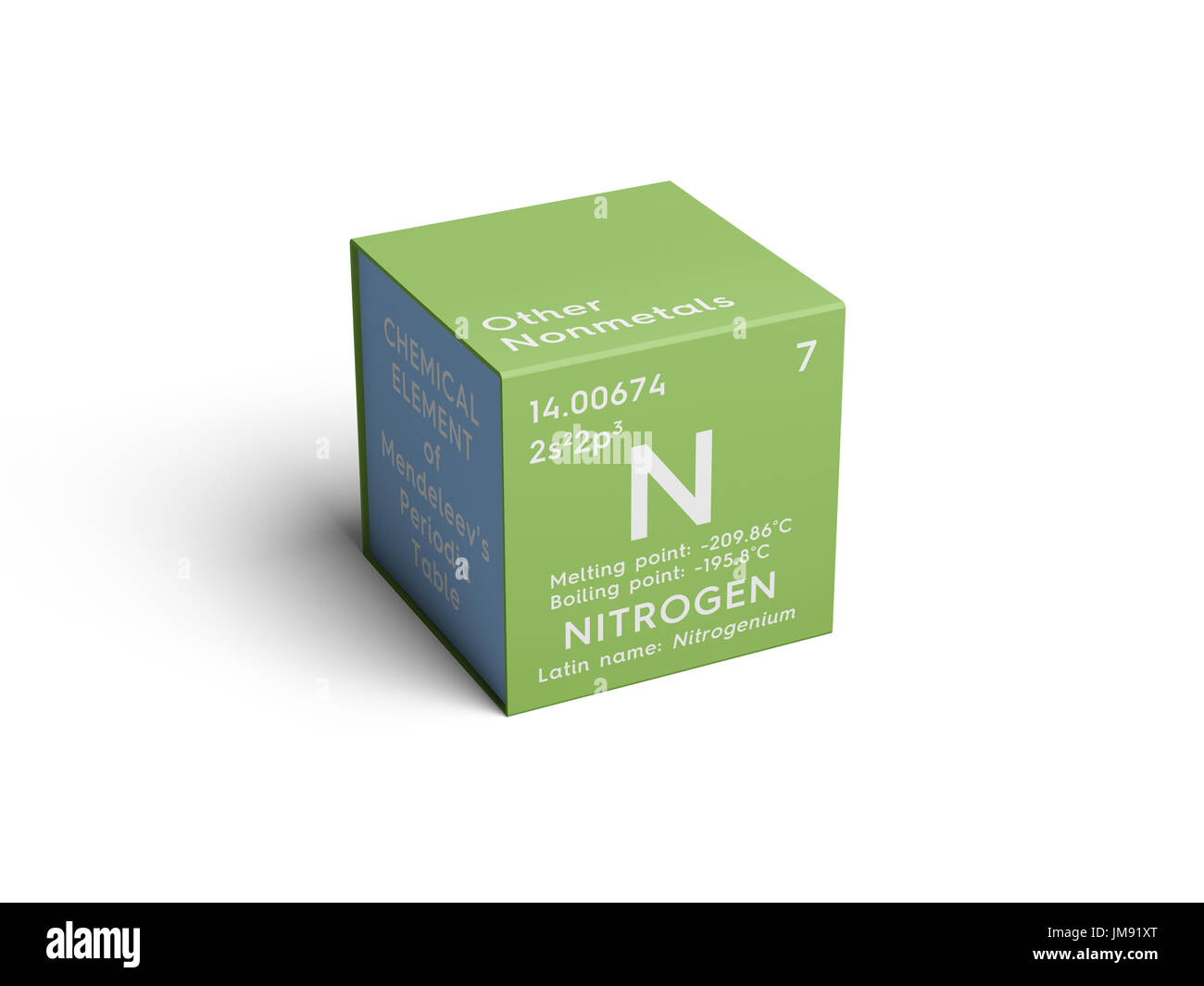 Nitrogen other nonmetals chemical element of mendeleevs nitrogen other nonmetals chemical element of mendeleevs periodic table nitrogen in square cube creative concept gamestrikefo Choice Image