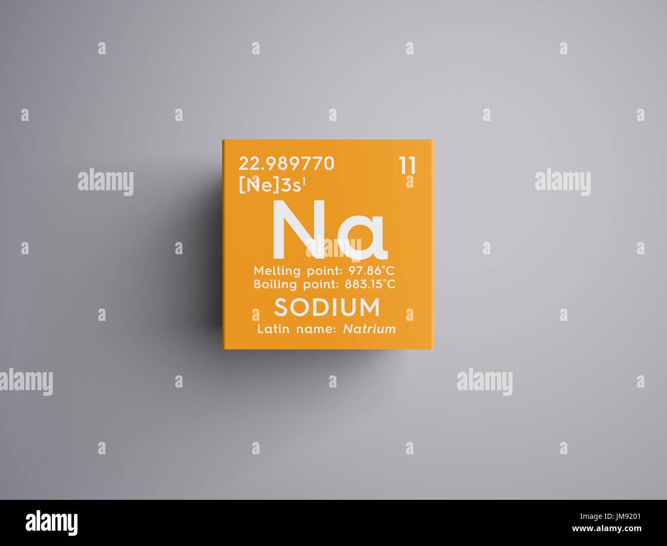 Sodium natrium alkali metals chemical element of mendeleevs sodium natrium alkali metals chemical element of mendeleevs periodic table sodium in square cube creative concept gamestrikefo Image collections